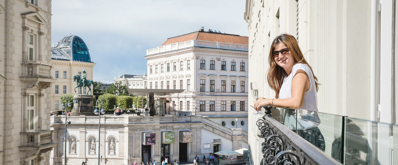 Balcony with view | Hotel Astoria  in Vienna