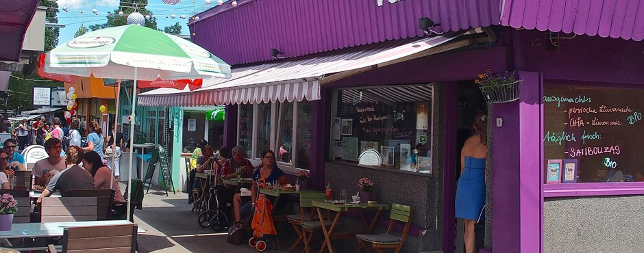 Purple Eat Marktstand Restaurant am Meidlinger Marktplatz. | © Purple eat