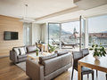 Panorama Suite living area and balcony with a view| Hotel Congress Innsbruck
