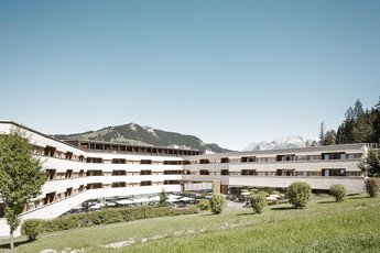 Exterior View hotel building | Alpine Resort Fieberbrunn in Tyrol