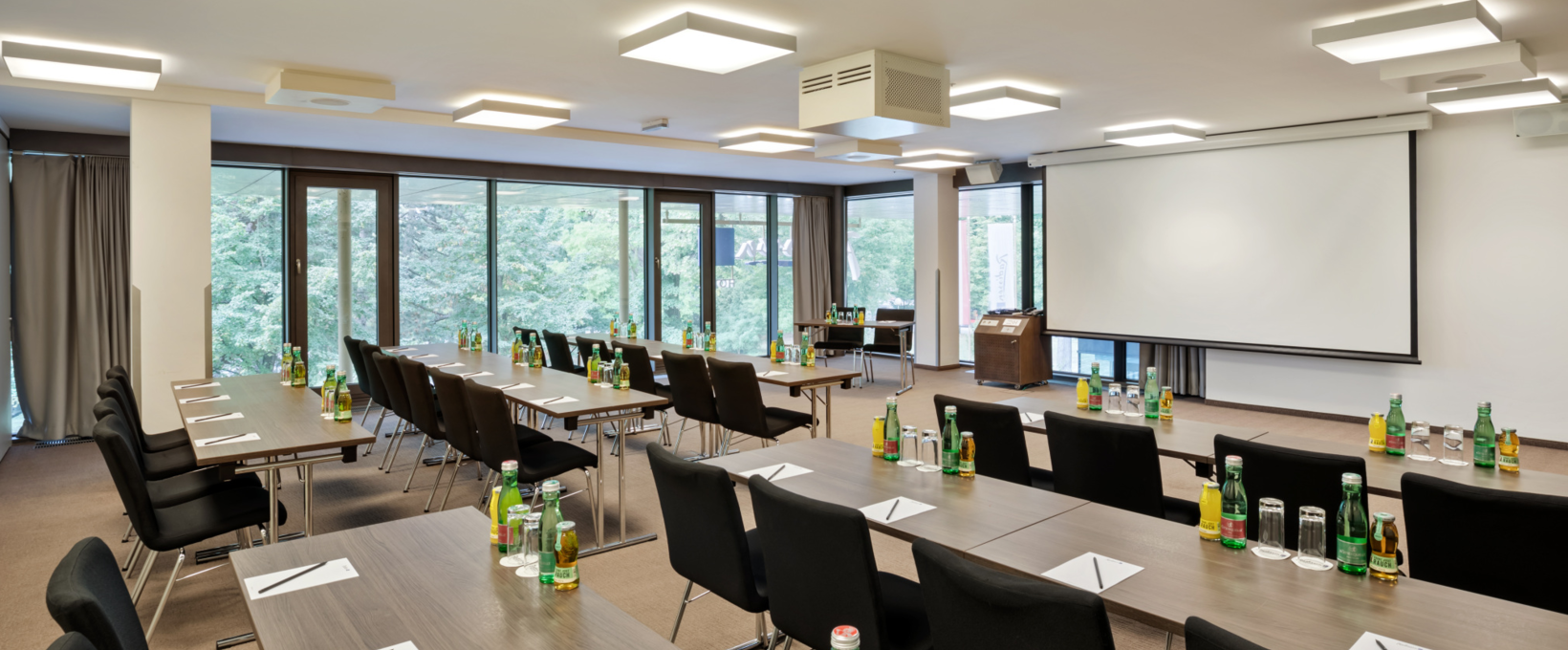 Seminar room Newton with classroom | Radisson Blu Park Royal Palace Hotel in Wien