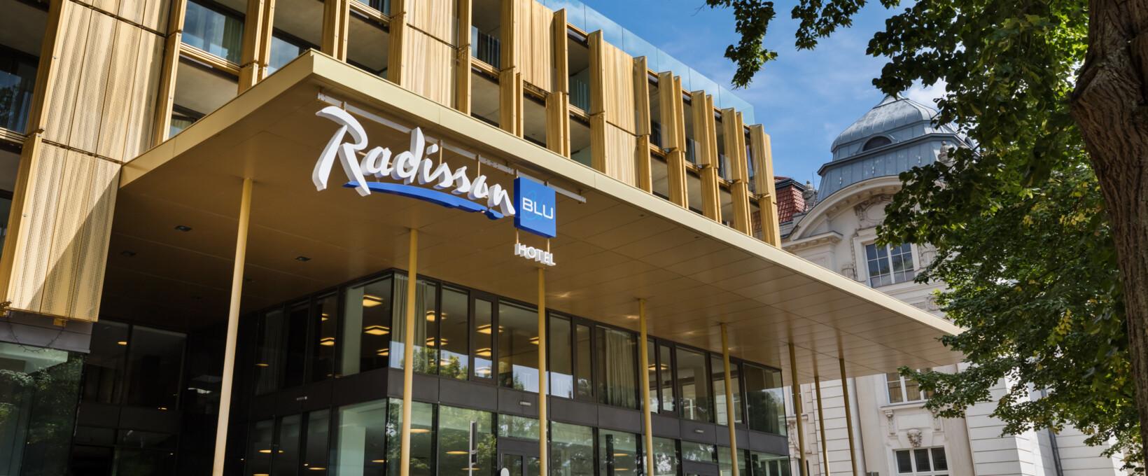 Außenansicht Hotelgebäude | Radisson Blu Park Royal Palace Hotel in Wien
