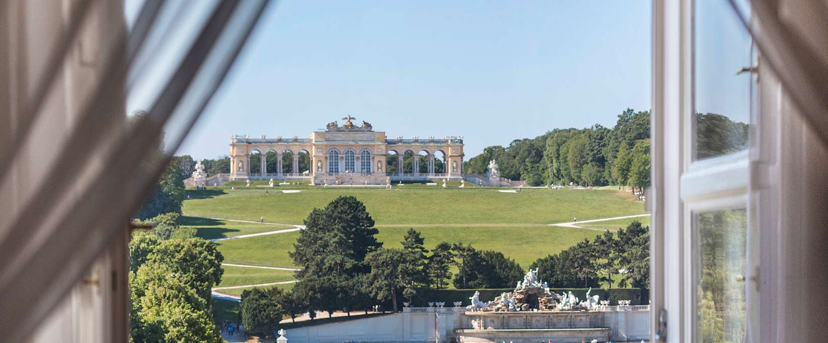 Window view to the Gloriette | Schloss Schönbrunn Grand Suite in Vienna