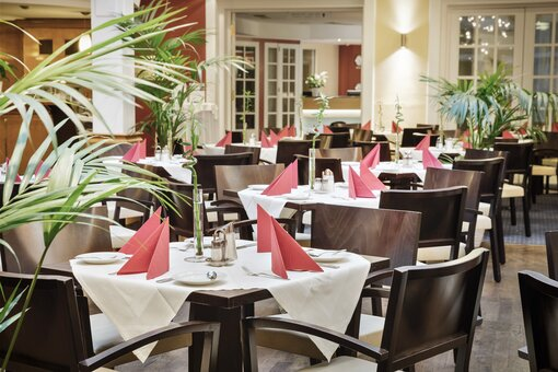 "Restaurant ""Sonnenhof"" with laid table 