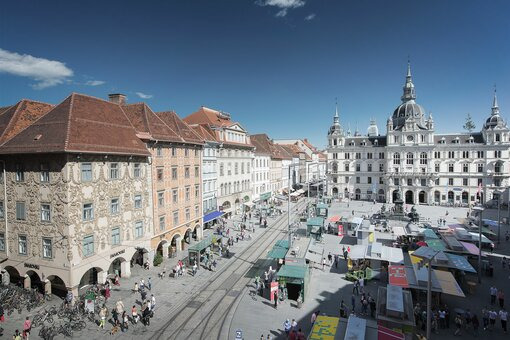 Main square | Graz | © Graz Tourismus | Harry Schiffer