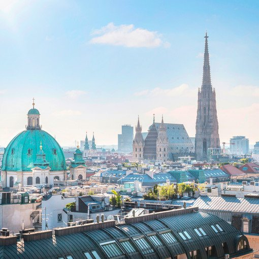 St. Stephen's Cathedral with city view | Vienna